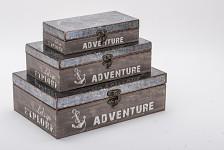 Dřevěná krabička Adventure - explore velká
