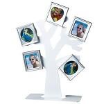 Rodinný strom fotorámeček - kovový bílý