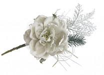 Zimní větvička s růžičkou - sv.růžová