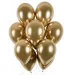 Balonky - chrom zlaté lesklé - 1ks
