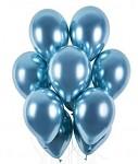 Balonky - chrom modré lesklé - 1ks