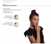 Nalepovací šperk - zlaté kamínky 20ks