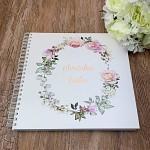 Svatební kniha hostů LUX - pastelové květy
