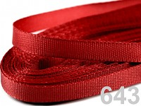 Taftová stuha - 9mm/10 m - červená