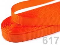 Taftová stuha - 9mm/10 m - oranžová