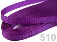 Taftová stuha - 9mm/10 m - tm.fialová