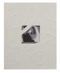 Svatební fotoalbum na fotolepky - ornament- krémové