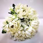 Kytice chryzantém - ivory