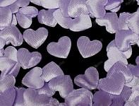 Srdíčka saténová mini 50ks - fialová