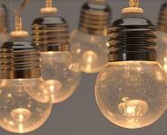 Světelný řetěz - žárovky - teplá bílá - 400 cm - půjčovna