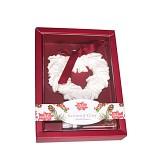 Vonná závěsná dekorace srdce s cesmínou rudé - dárkové balení