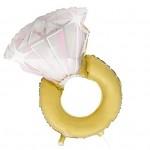 Fóliový balonek - svatební prsten 93cm