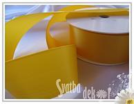 Stuha saténová 20 mm - žlutá - 1m