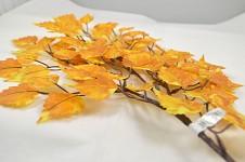 Větvička s listy břízy - 80 cm - žlutozelená