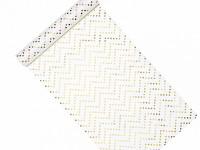 Vlizelín bílý se zlatými hvězdičkami - 36cm/9m