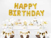 Fóliový nápis zlatý - happy birthday