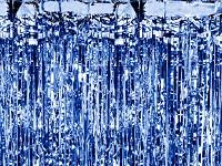 Párty záclona fóliové třásně - modrá