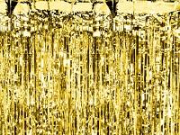 Párty záclona fóliové třásně - zlatá