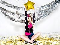 Girlanda fóliové třásně - stříbrná - 4m