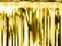 Girlanda fóliové třásně - zlatá - 4m