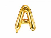 Foliový balonek písmeno 35cm  - zlaté - A