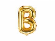 Foliový balonek písmeno 35cm  - zlaté - B