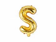 Foliový balonek písmeno 35cm  - zlaté - S