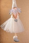 Andílek s tylovou sukní bílý 35 cm - závěs