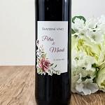 Etiketa na svatební víno 0,7l - růže