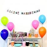 Girlanda papírová barevná - krásné narozeniny