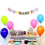 Girlanda papírová barevná 8 x  150 cm - moje narozeniny