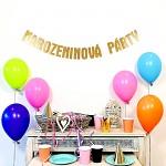 Girlanda papírová zlatá - narozeninová párty