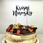 Napichovátko do dortu - krásné narozky černé