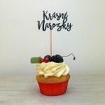 Napichovátko do cupcake - krásné narozky černé