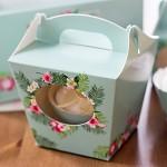 Krabička dárková s ouškem na cupcake - aloha