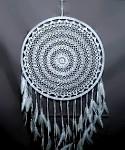 Lapač snů - bílý 50 cm