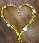 Srdce pedig žluté - 60 cm