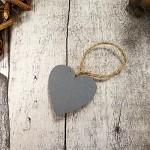 Srdíčko plné závěs šedé  - 3,5cm