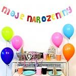 Girlanda papírová barevná velká - moje narozeniny