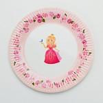 Papírové talíře - princezna - 8ks
