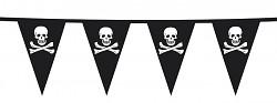Girlanda piráti - černá