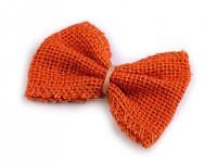 Jutová mašlička - oranžová