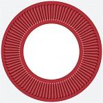 Party papírové talířky - bílo-červené - 8ks