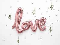 LOVE - foliový nápis - růžovozlatý