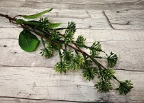 Větvička se zelenými bodláčky- 60 cm