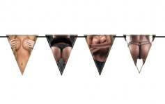 Girlanda vlajky - ženské tělo - 6 m