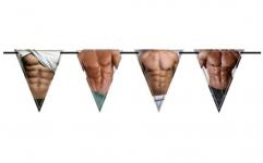 Girlanda vlajky - mužské tělo - 6 m