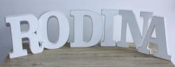 Dřevěný nápis - RODINA