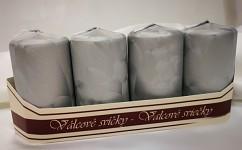 Adventní svíce - stříbrné ledové malé