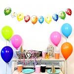 Girlanda papírová balonky 24 x 150 cm - narozeniny